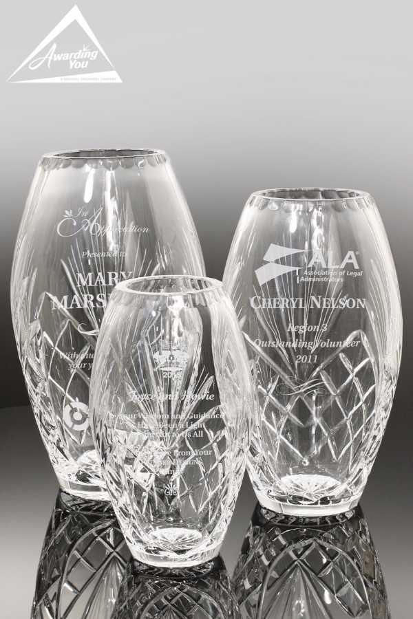 Regina Crystal Vase Family View