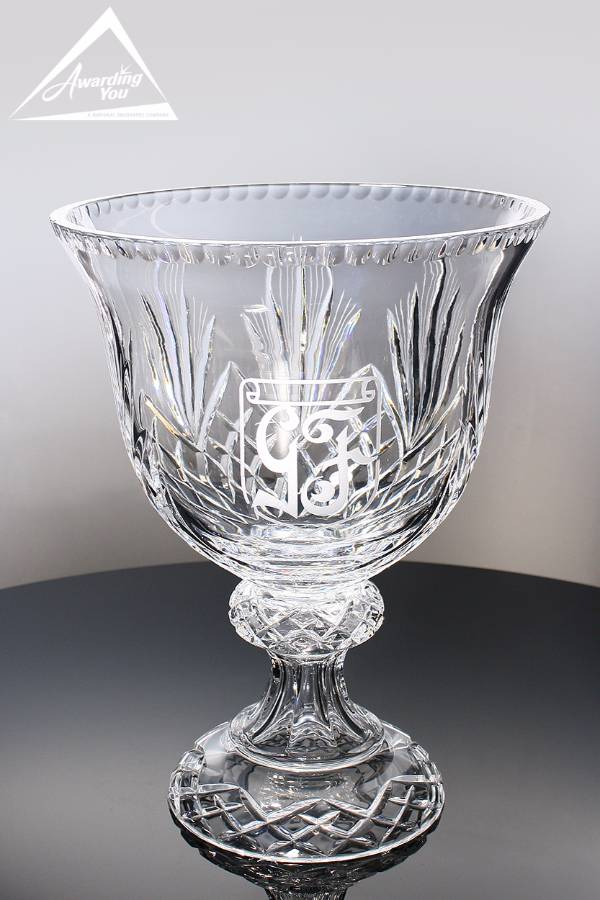 Abbington Crystal Trophy Bowl Front View