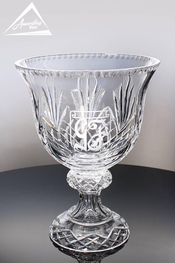 Abbington Crystal Trophy Bowl Front View