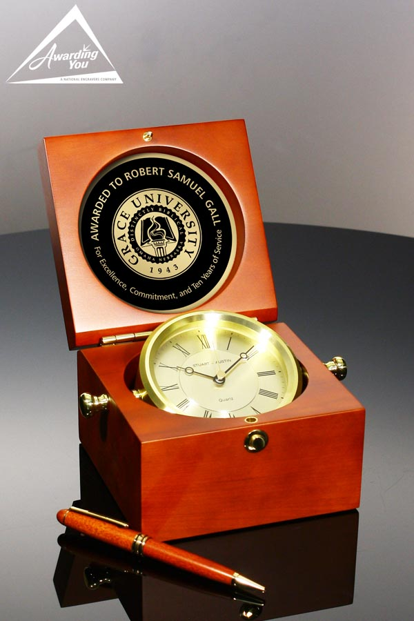 Captains Clock Front View