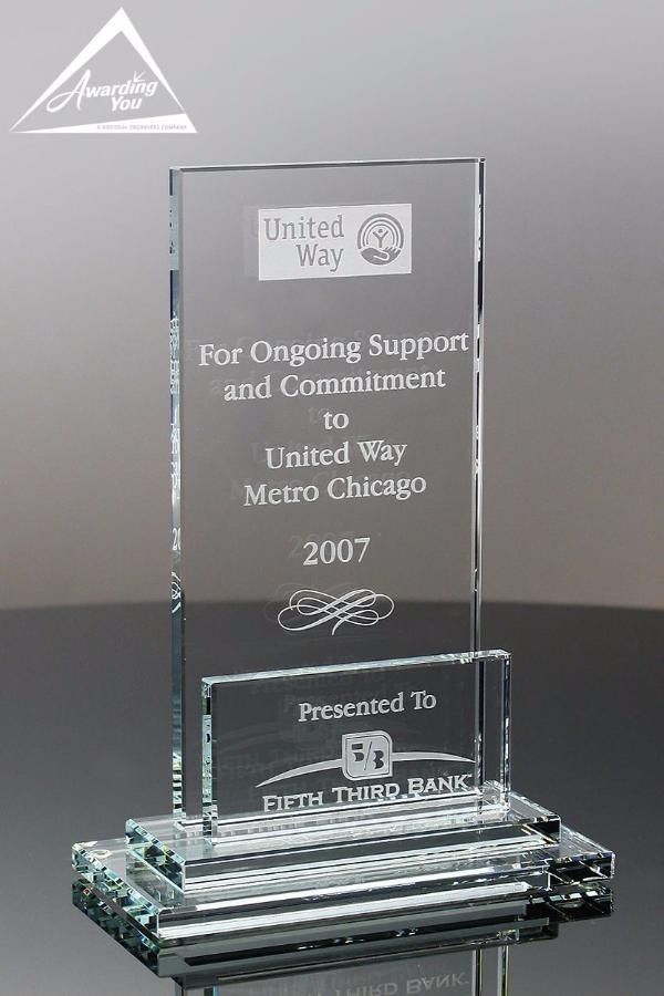 Frieze Appreciation Glass Award Front View