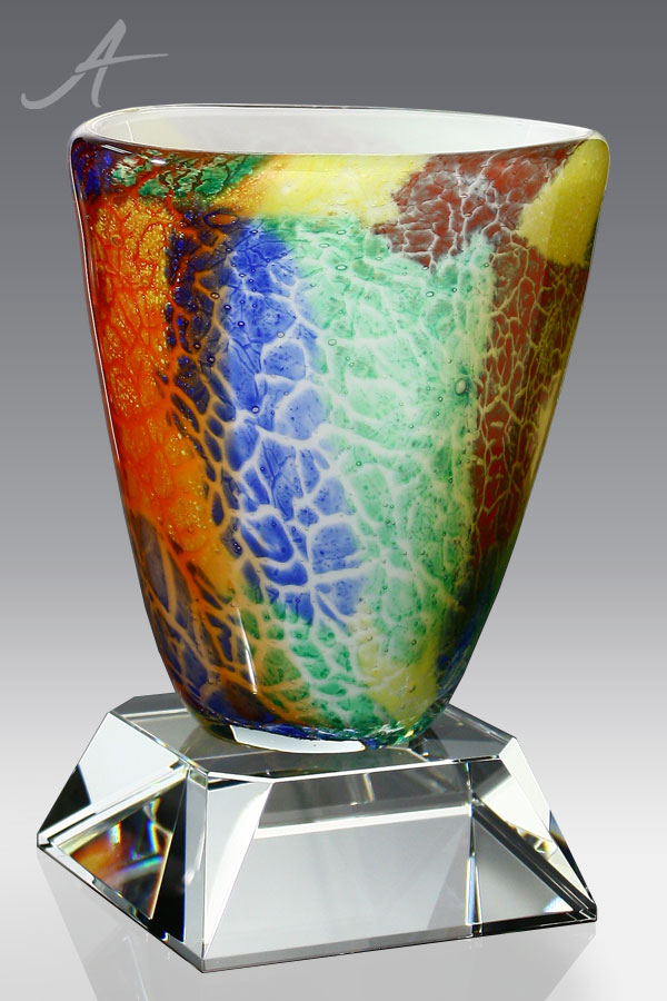 Gillian Art Glass Vase - Quarter Turn Front