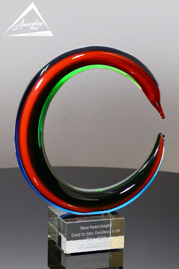 Color Circle Art Glass Award