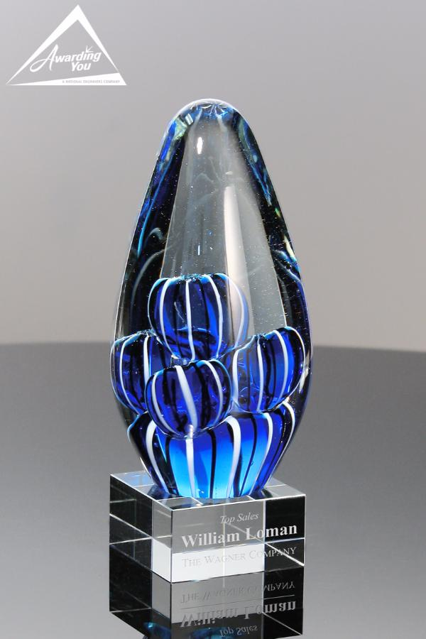 Celeste Art Glass Award-Front View