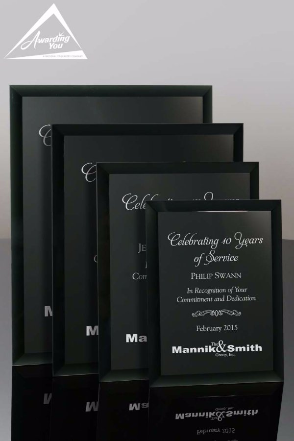 Cheval Black Glass Plaque - Awarding You
