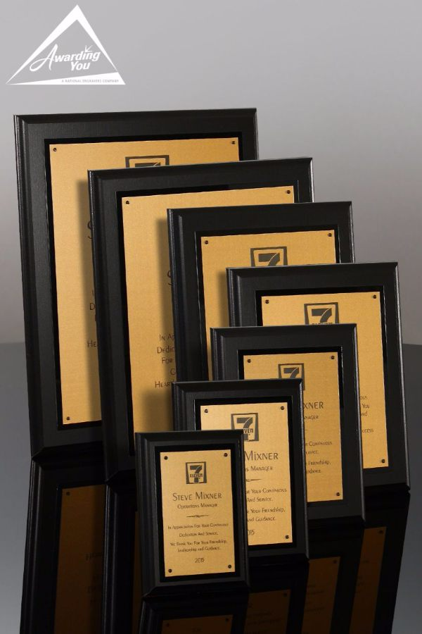 Harrison Bronze Advancement Award Plaque Family View