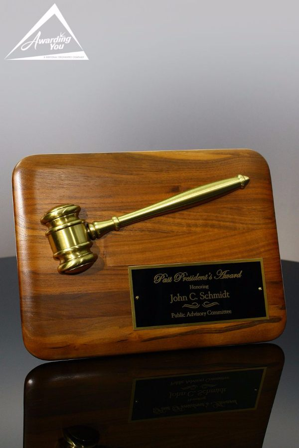 Chancellor Presidents Award Gavel Plaque