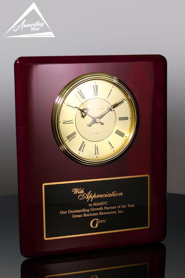 Aidan Appreciation Rosewood Clock