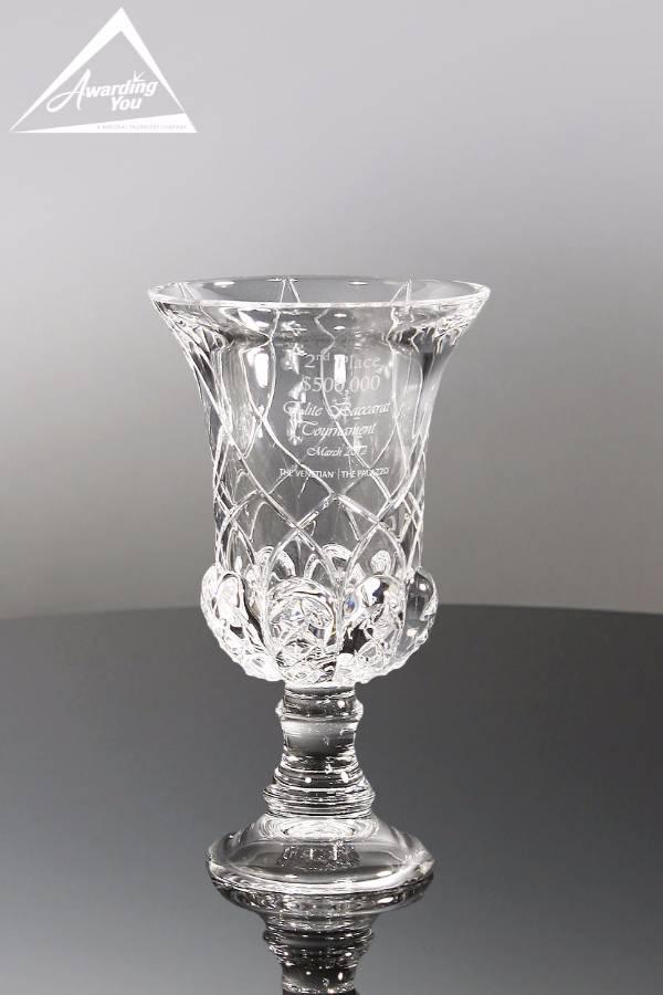 Aria Italian Crystal Vase Medium Front View
