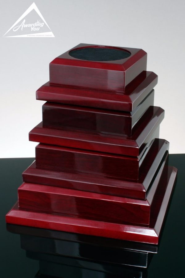Rosewood Piano Finish Bases for Awards Vases and Bowls - Family