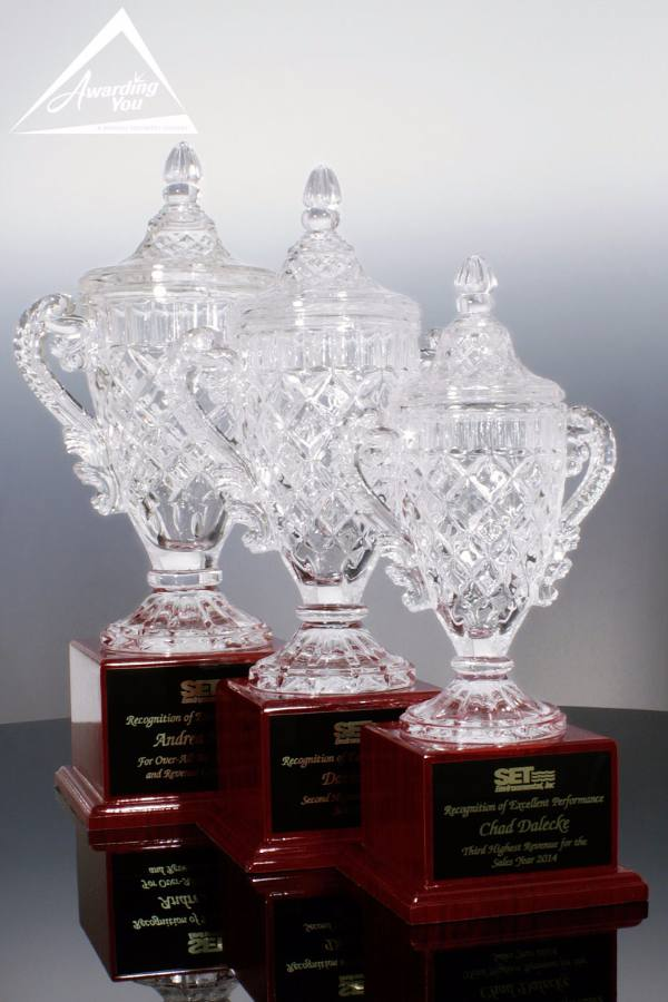 Eleonora Crystal Cup & Rosewood Bases