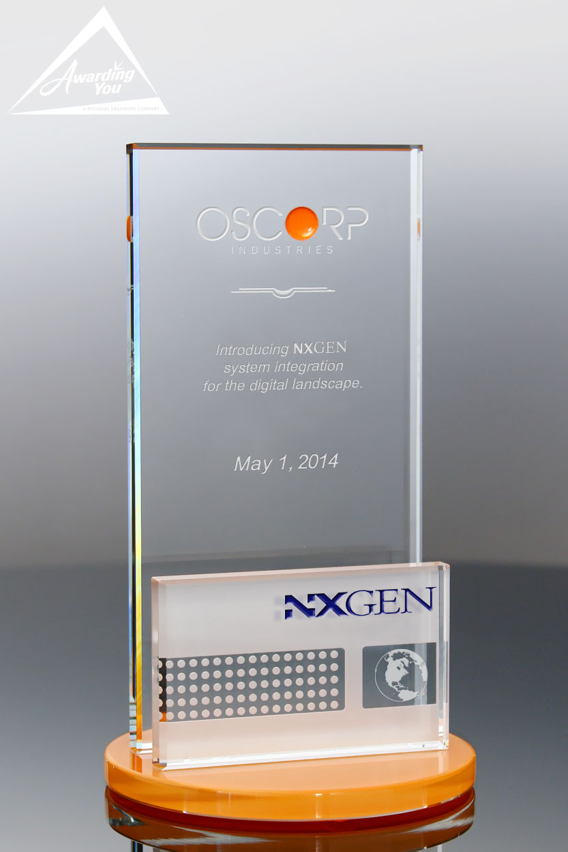 Custom Glass Award by Awarding You