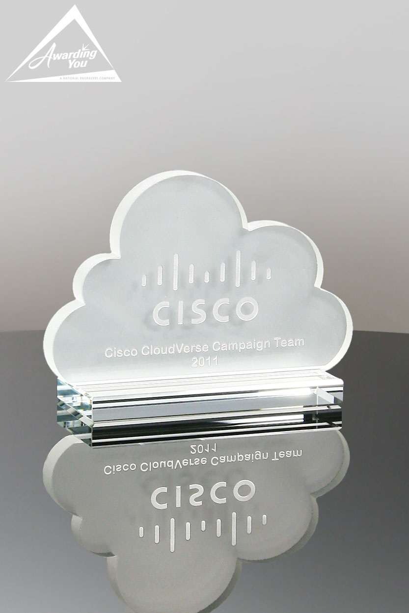 Custom Glass Cloud Award by Awarding You