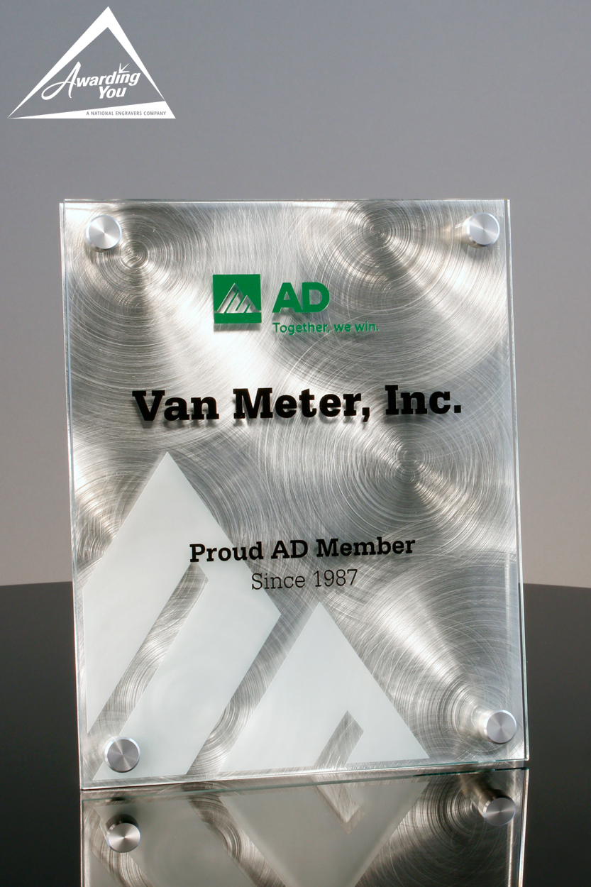 Custom Glass Plaque Award by Awarding You