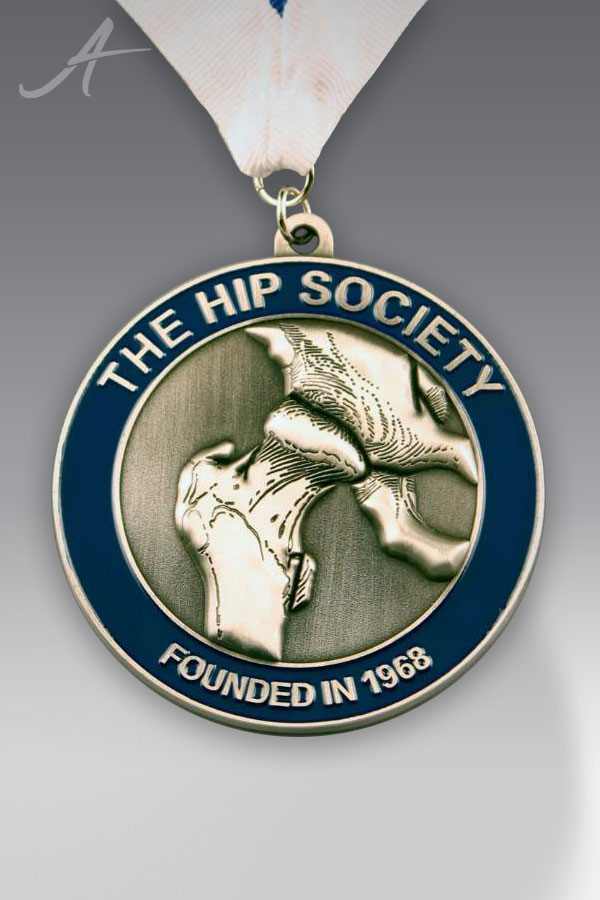 Custom Antique Silver Medallion with Color Fill by Awarding You