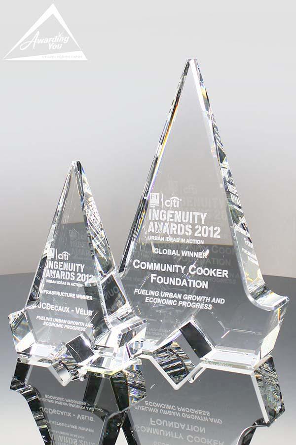 Custom Crystal Award by Awarding You