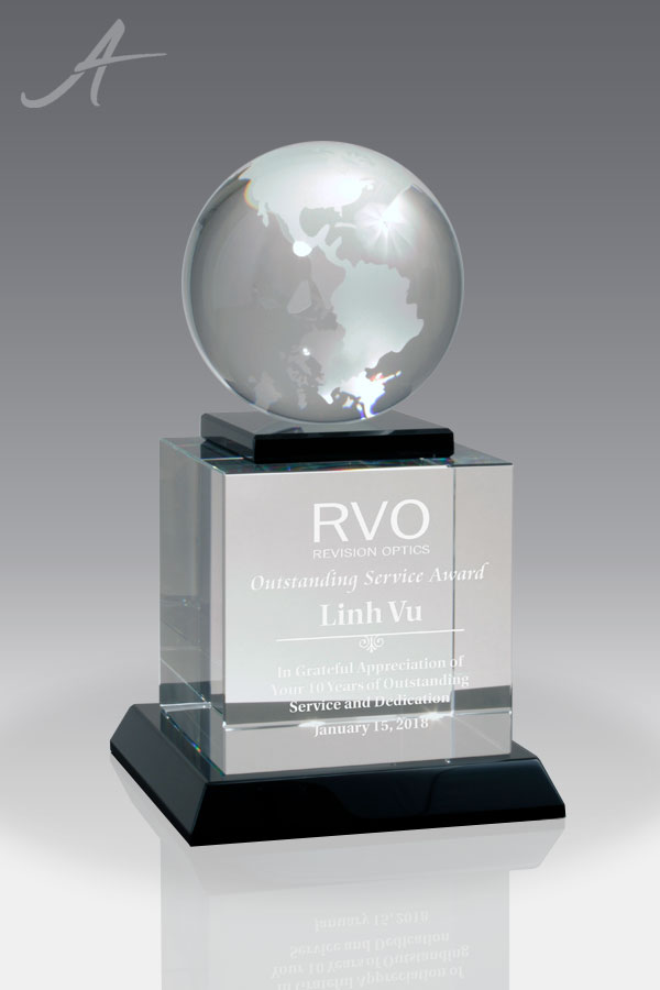 Global Advantage Crystal Award Front View