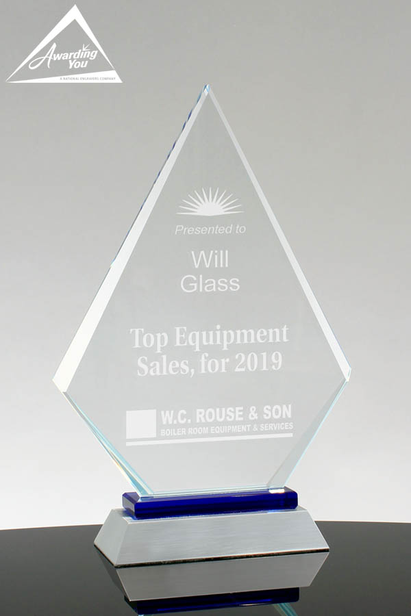 Simon Glass Diamond Award - front view