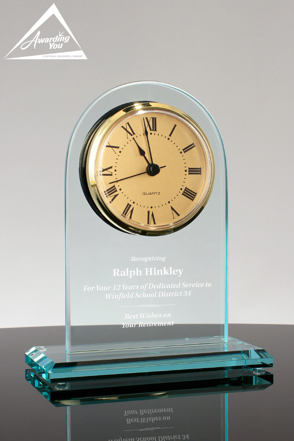 Fleming Glass Clock