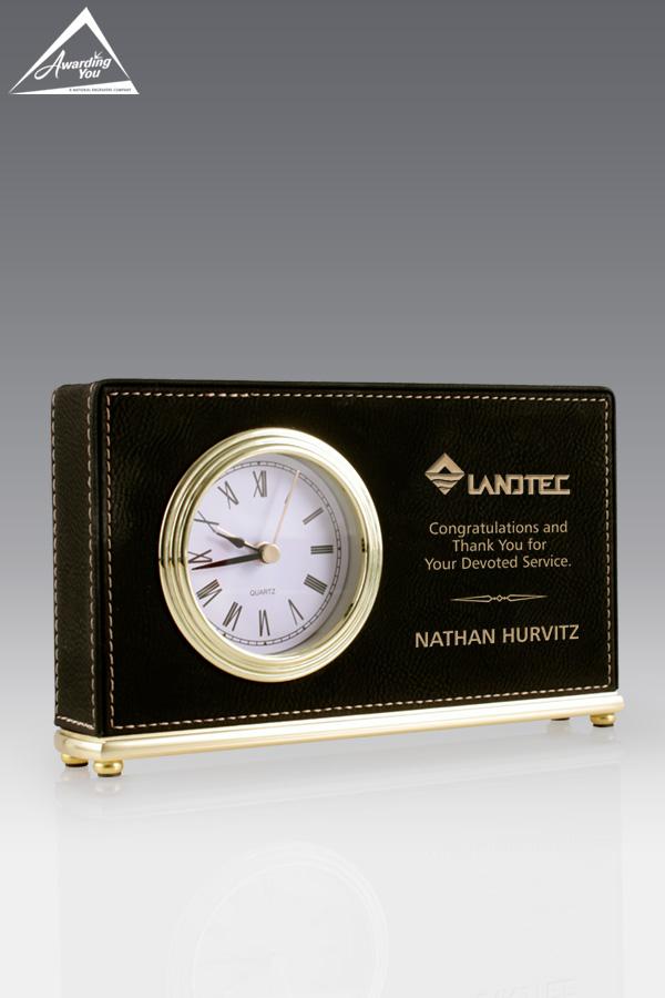 Randal Leatherette Clock