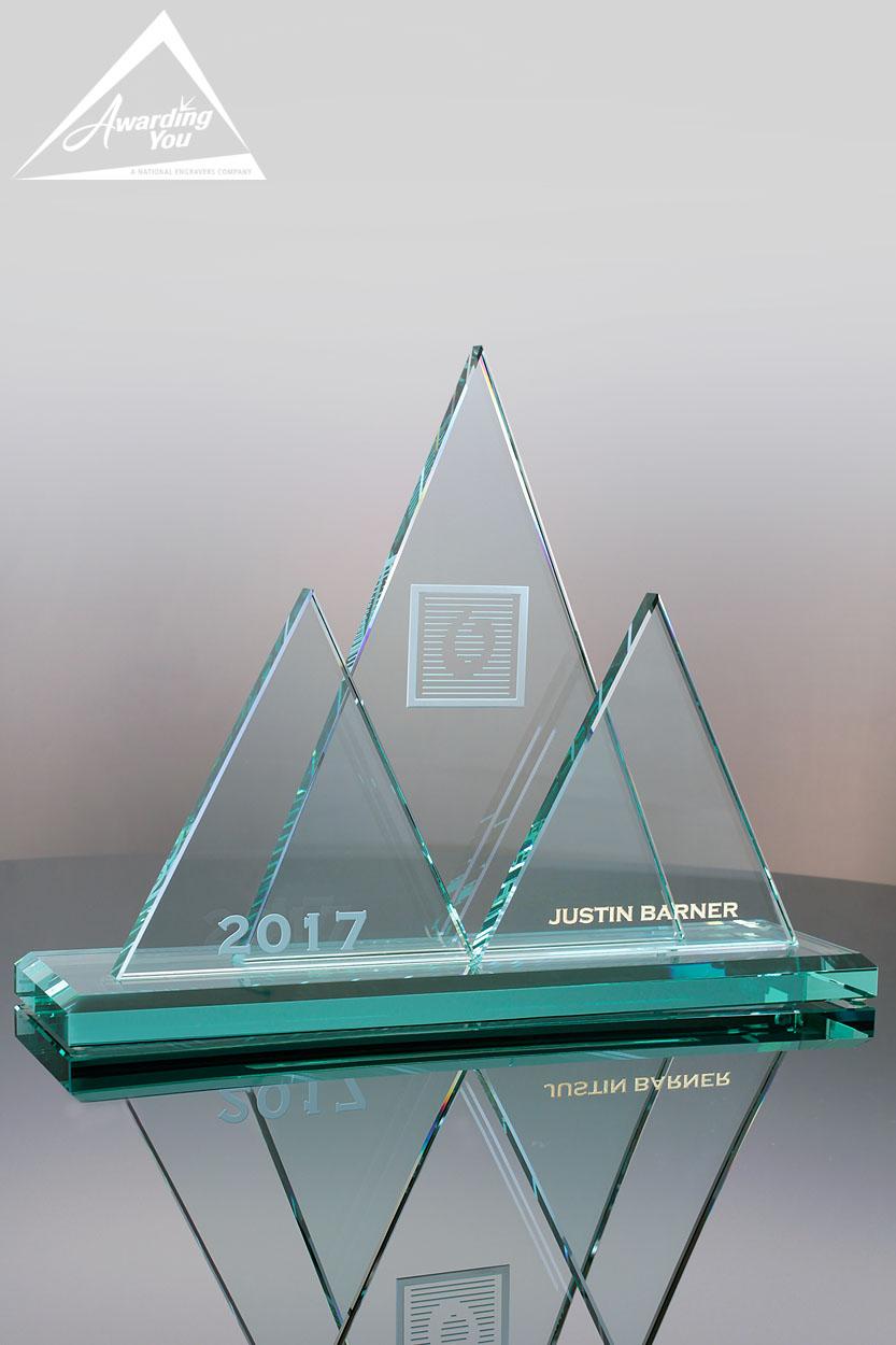 G55. Custom Glass Award