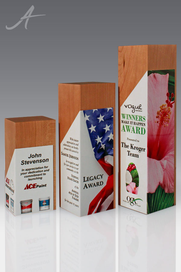 Catalina Family of Full Color Wood Awards
