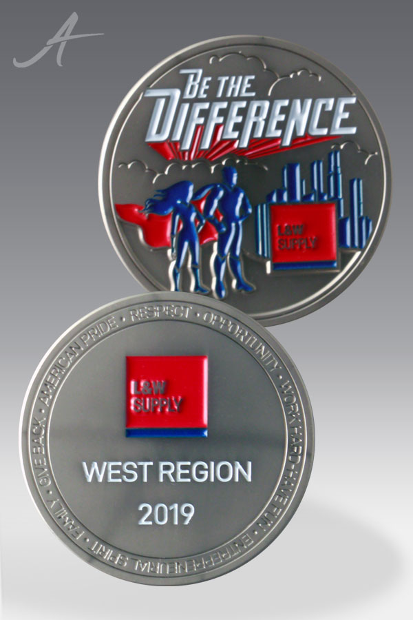 Law and Order Custom Challenge Coin
