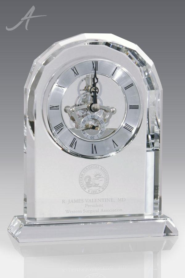 Lisbon Crystal Clock - Face View