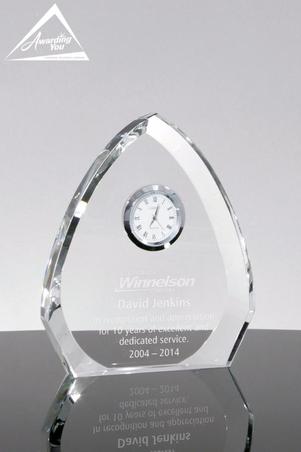 Catania Crystal Clock Award - Front Face