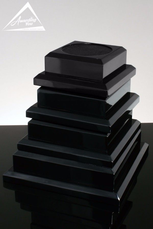 Black Piano Finish Bases for Awards Vases and Bowls