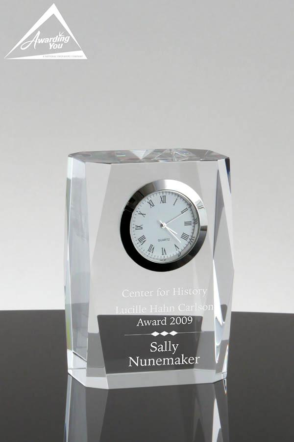PN5108 Hamburg Crystal Clock - Front View
