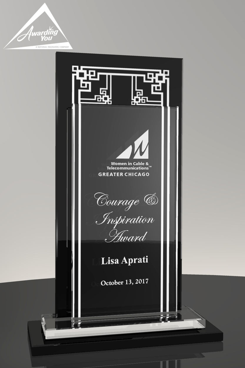 Clear and Black Glass Awards are great for team or department awards