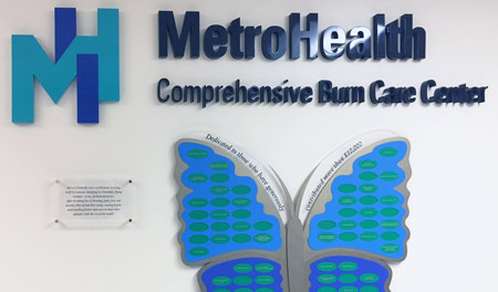 A brilliantly colored, laser cut butterfly, with recessed oval donor nameplates, made for easy installation and includes a small engraved, color-filled plaque and 3-dimensional lettering.