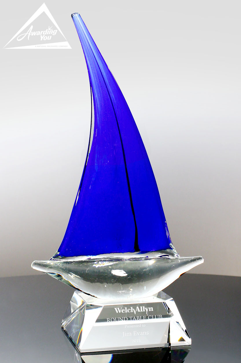 Unique shapes and art glass awards are excellent retirement options