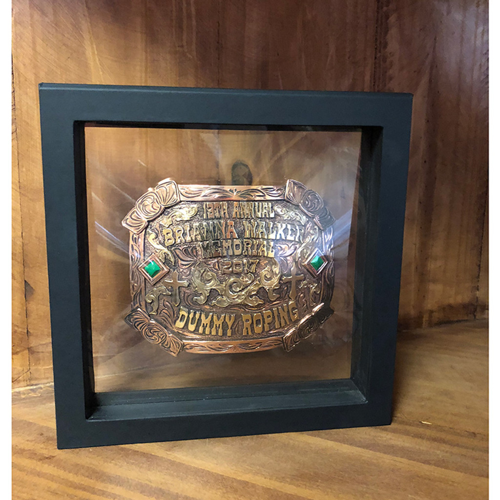 3D Buckle Shadow Box - White