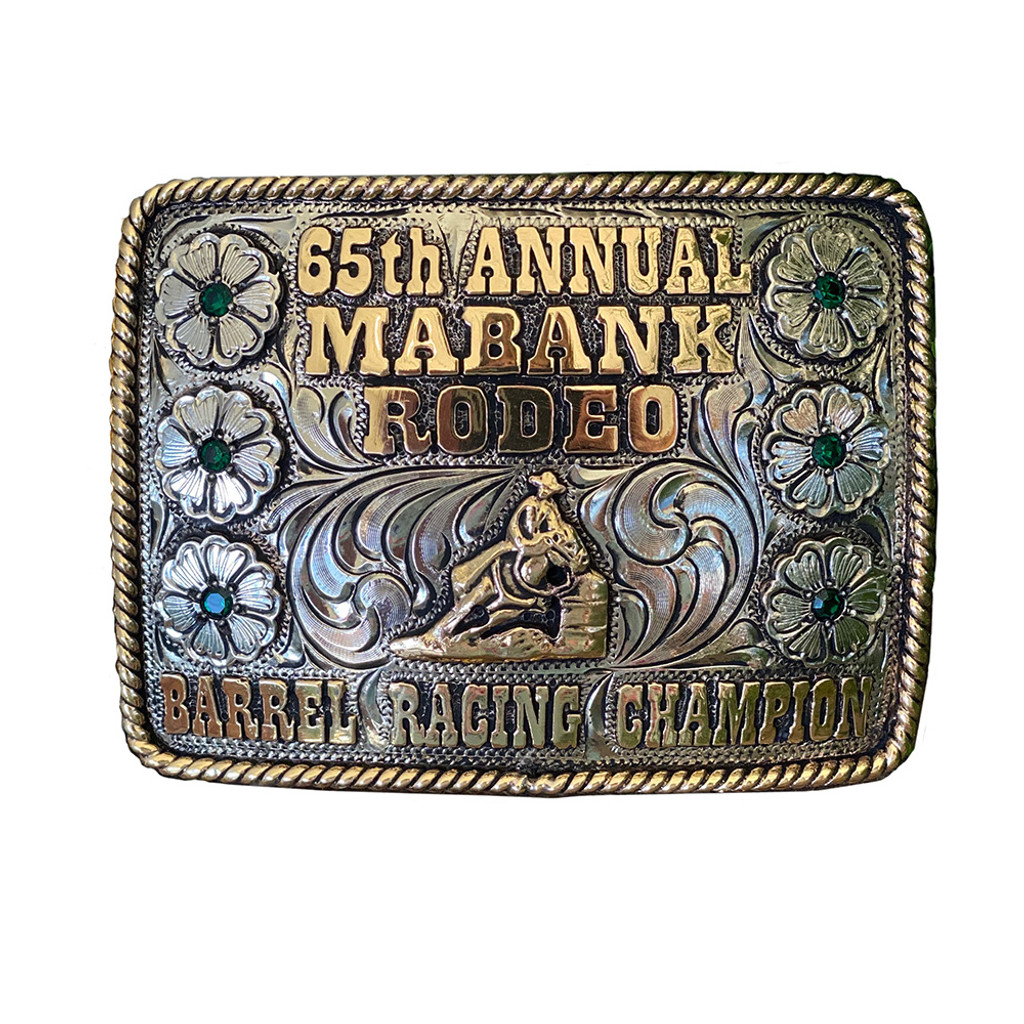 The Flower Mound Trophy Buckle