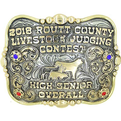 The Stockyards trophy buckle