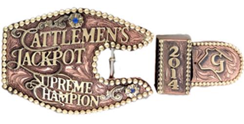 The Cattleman's 3-Piece  Ranger Trophy Buckle