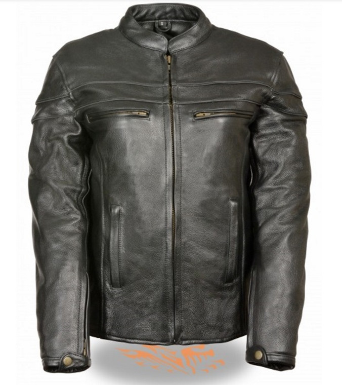 LADIES LEATHER SCOOTER CROSSOVER JACKET - SA79