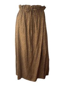 Emerson Fry Drawstring Skirt, Cheetah