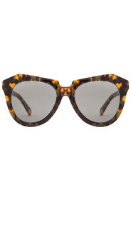 Karen Walker Number One Sunglasses, Tortoise