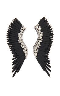 Mignonne Gavigan Mega Madeline Earrings, Black / Silver