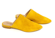 Raleigh Label Mustard Suede Slide