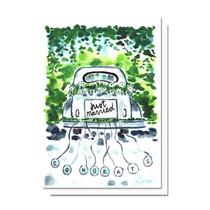 Evelyn Henson Just Married Car Card