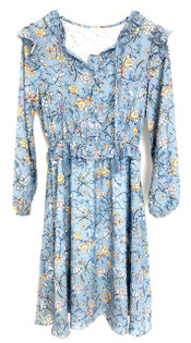 Jade Ruffle Peasant Dress