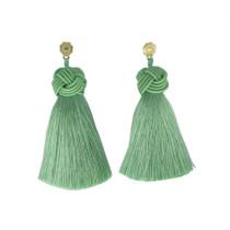 Hart Top Knot Earrings - Mint Green
