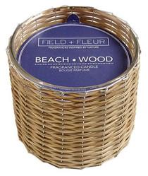 Field + Fleur Beach Wood Handwoven Candle