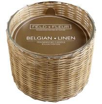 Field + Fleur Belgian Linen Handwoven Candle