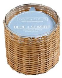 Field + Fleur Blue Seaside Handwoven Candle