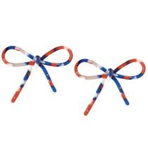 Red, White, & Blue Bow Earrings